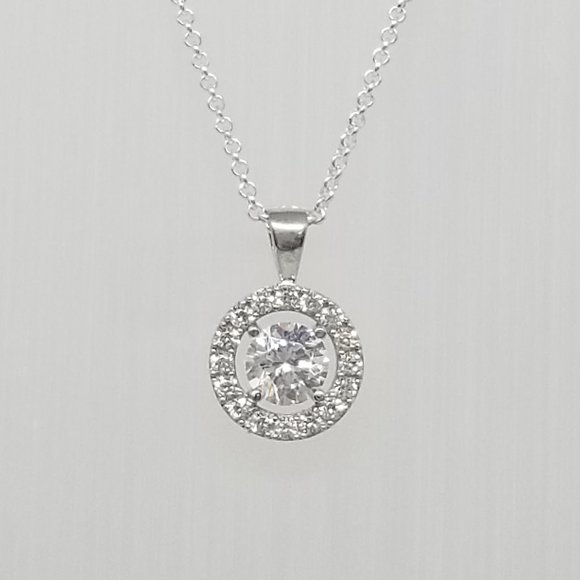 Necklace Sterling Silver Circle Of Life CZ
